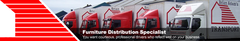 Furniture Distribution Specialists - You want courteous, professional drivers who reflect well on your business.