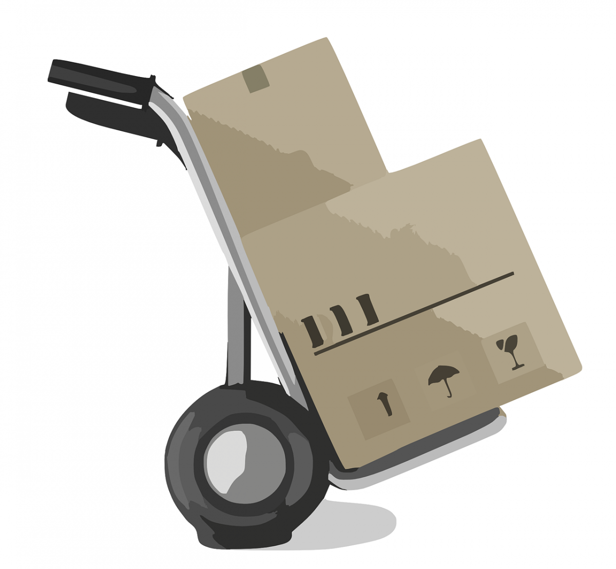 delivery boxes with furniture delivery